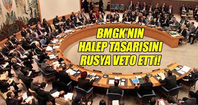 Rusya BMGK'nın Halep tasarısını veto etti!