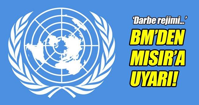 BM'den Mısır'a uyarı