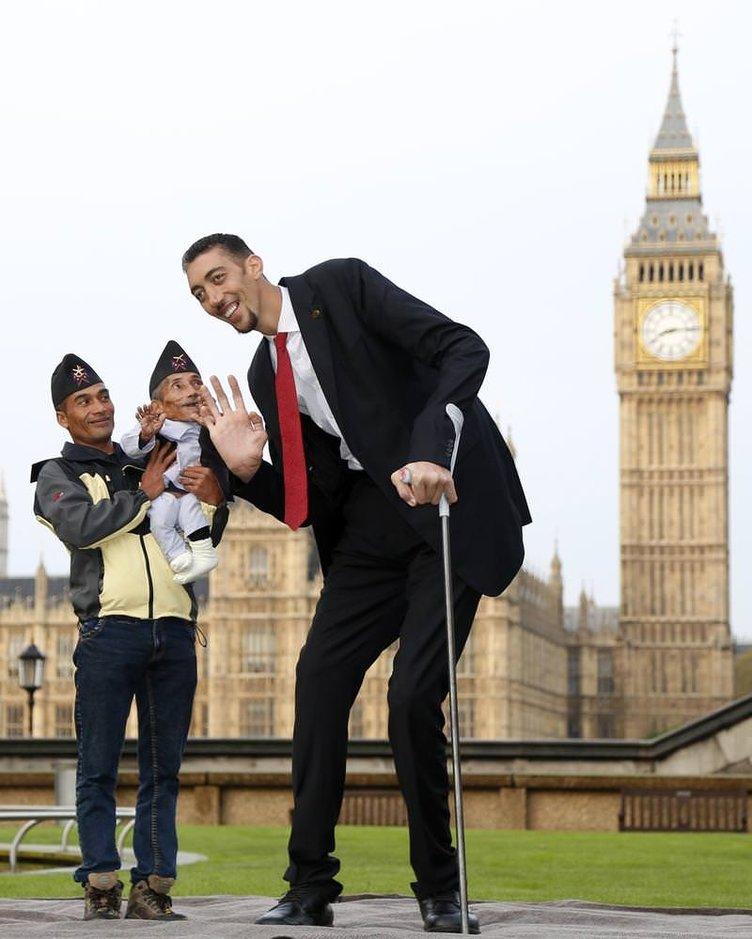 En uzun ve en kısa adamlar buluştu