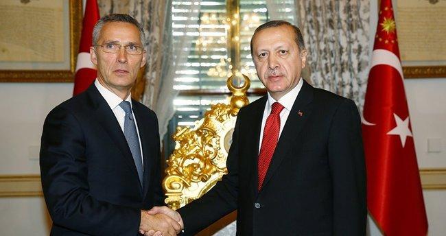 Cumhurbaşkanı Erdoğan, NATO Genel Sekreteri Stoltenberg'i kabul etti