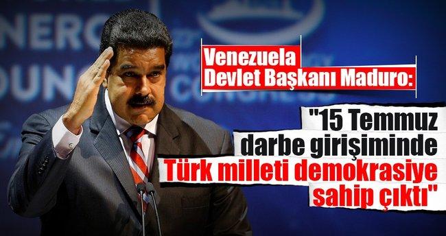 Maduro: 15 Temmuz darbe girişiminde Türk milleti demokrasiye sahip çıktı