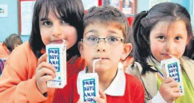 Her gün 6 milyon öğrenciye okul sütü