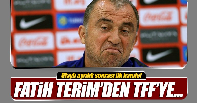 Fatih Terim, TFF'ye ihtarname çekti!