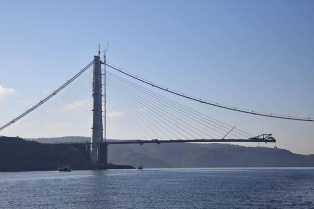 Üçüncü köprüde sona yaklaşıldı
