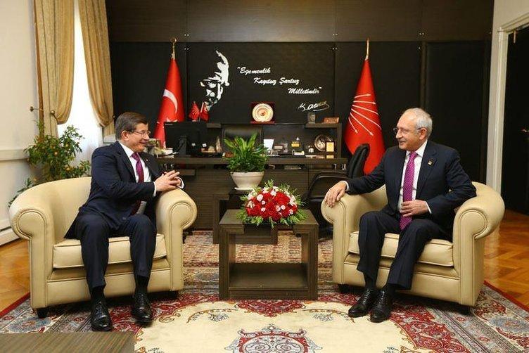 Davutoğlu-Kılıçdaroğlu görüşmesi