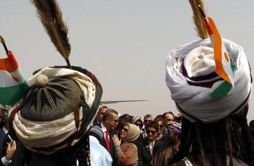 Erdoğan'a Nijer'de renkli karşılama