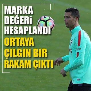 Ronaldo'nun marka değeri 160 milyon euro