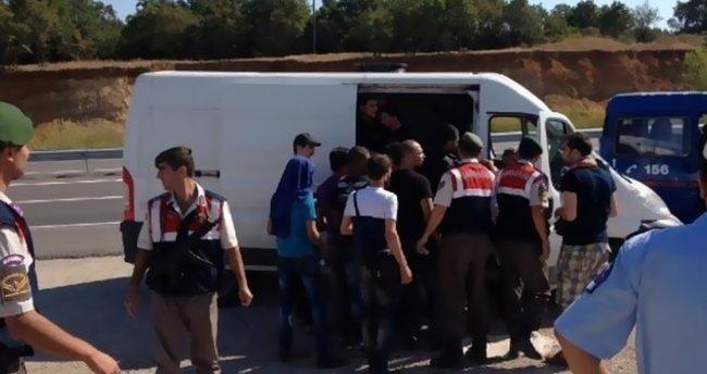 Edirne'de 21 sığınmacı yakalandı