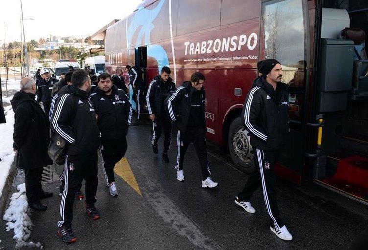Beşiktaş kafilesi Tolga için Trabzon'da