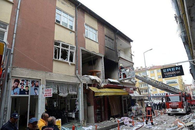 Ankara'da doğalgaz patlaması!