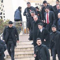 Erdoğan'a cami çıkışı sevgi gösterisi