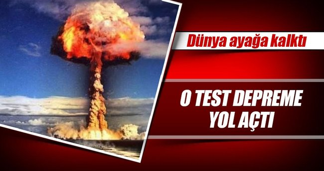 Kuzey Kore'nin nükleer testi depreme yol açtı!