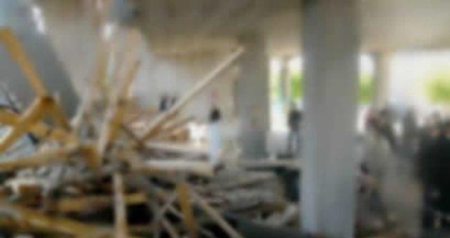 Kadıköy'de inşaat çalışmasında çökme