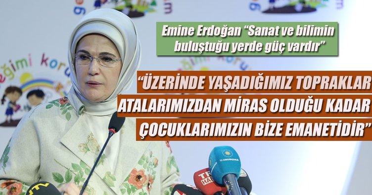 """Emine Erdoğan """"Sanat ve bilimin buluştuğu yerde güç vardır"""""""