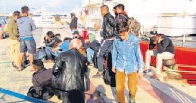 Çeşme'de 166 mülteci yakalandı