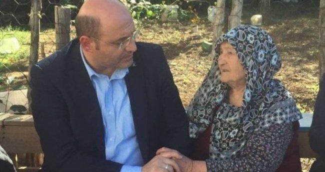 AK Parti'den Kütahya'nın en yaşlı vatandaşına ziyaret
