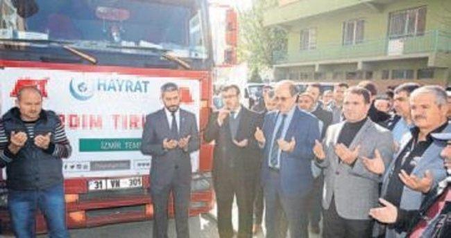 İzmir'den Suriye'ye insani yardım tırı