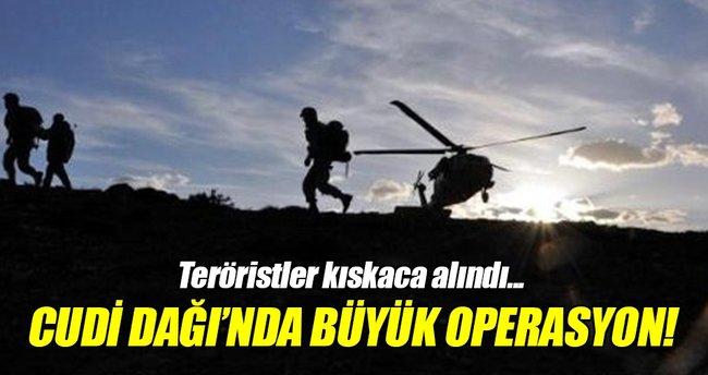 Cudi Dağı'nda PKK'ya operasyon!