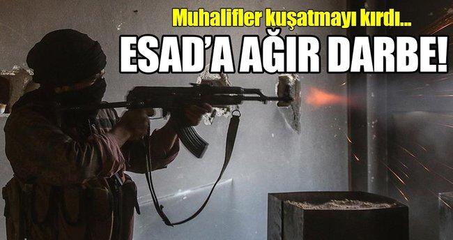 Muhalifler Şam'da Kabun kuşatmasını kırdı!