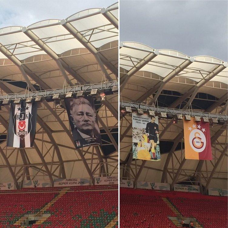 Konya Arena tribünlerinden renkli görüntüler