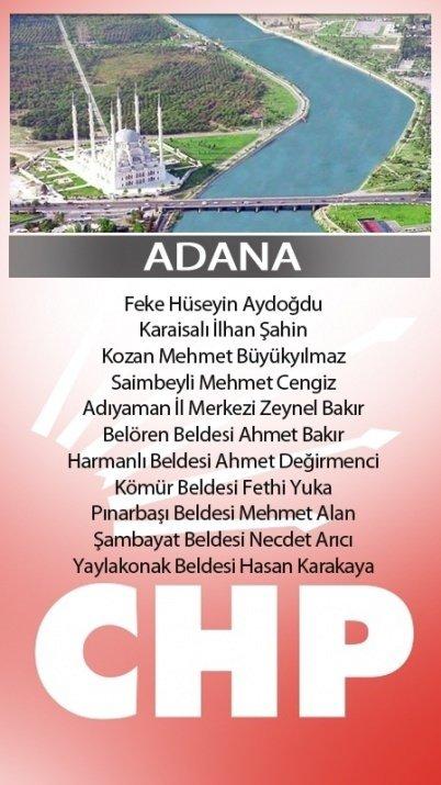 İşte CHP'nin aday listesi