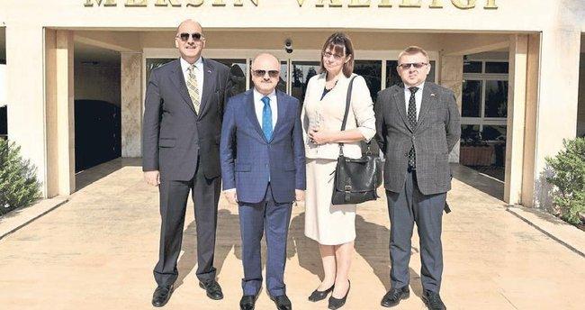 Estonya Büyükelçisi Mersin'i ziyaret etti