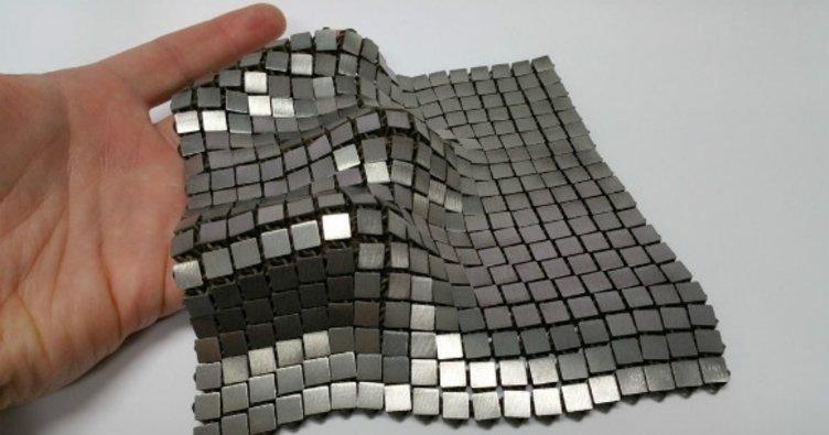 Metalik uzay kumaşı üretildi!