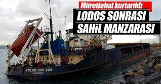 Kartal'da Rus gemileri lodos nedeniyle karaya oturdu