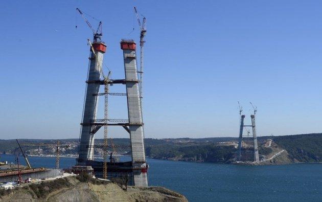 3. Boğaz Köprüsü'nün kuleleri eşitlendi