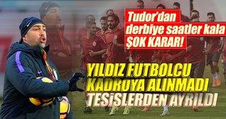Galatasaray'da Linnes derbi kadrosunda yok