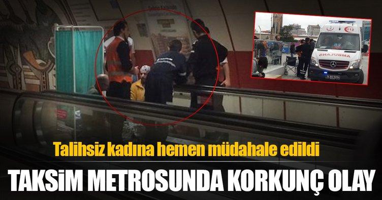 Taksim metrosunda korkunç olay