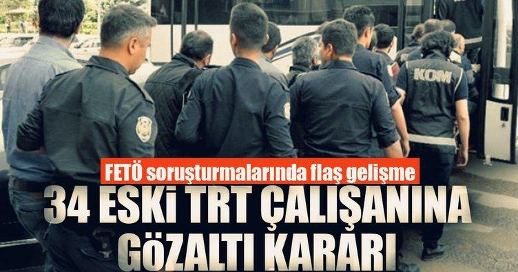 Son dakika... ByLock kullanıcısı 34 eski TRT çalışanı hakkında gözaltı kararı