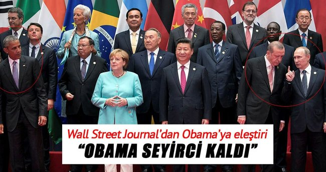 Wall Street Journal: Obama seyirci kaldı