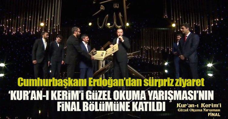Cumhurbaşkanı Erdoğan Kur'an-ı Kerim'i Güzel Okuma Yarışması finaline katıldı