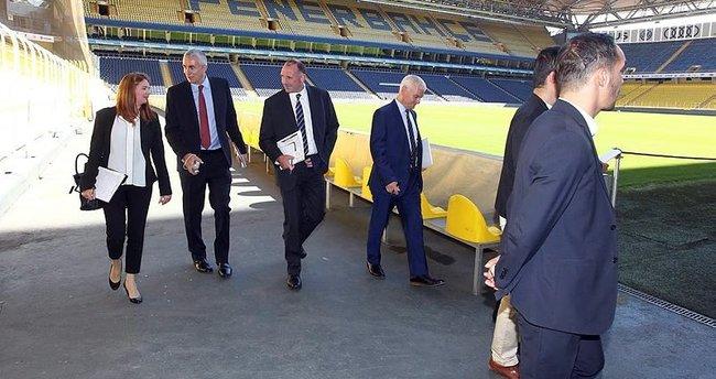 Manchester United yetkilileri Ülker Stadyumu'nu gezdi
