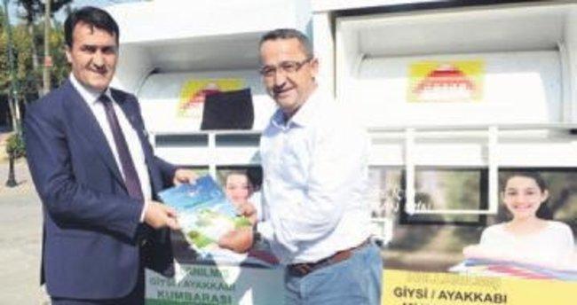 Osmangazi'de 3 ayda 54 ton giysi toplandı