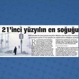 21'inci yüzyılın en soğuğu