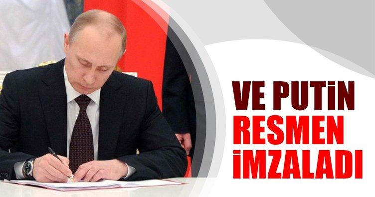 Putin resmen imzaladı