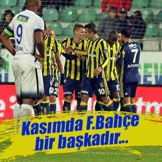 Kasım'da Fenerbahçe bir başkadır