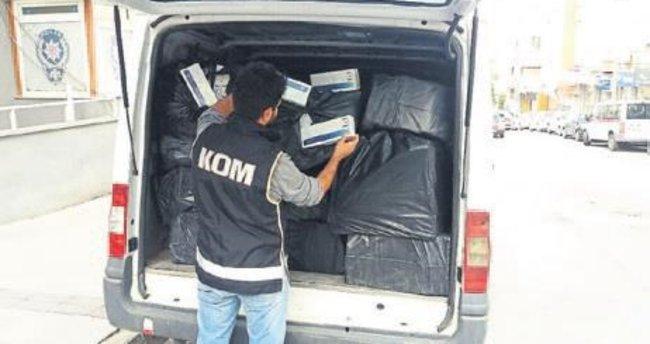 25 bin paket kaçak sigara ele geçirildi