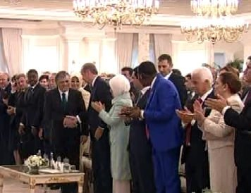 Çankaya Köşkü'nde devir teslim töreni