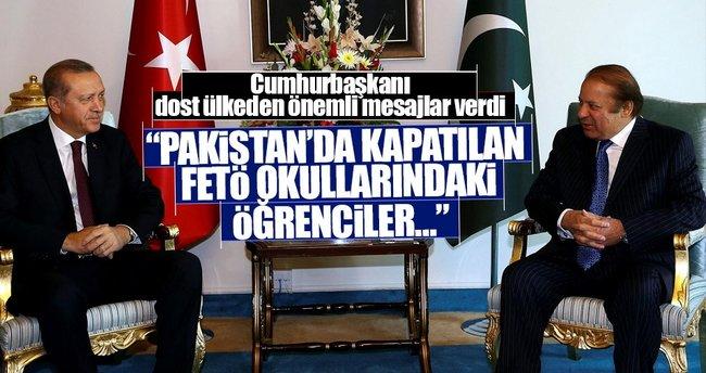 Cumhurbaşkanı dost ülkeden önemli mesajlar verdi