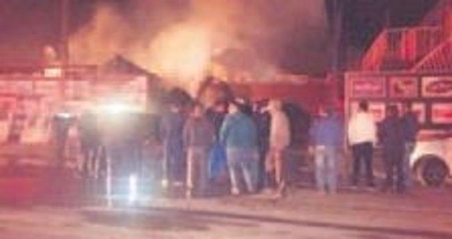 Korkutan işyeri yangını