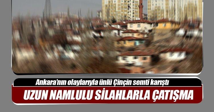 Başkent'te uzun namlulu silahlarla çatışma