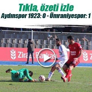 Maç sonucu: Aydınspor 1923 0-1 Ümraniyespor