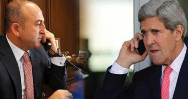 Çavuşoğlu ile ABD Dışişleri Bakanı Kerry Halep'i görüştü