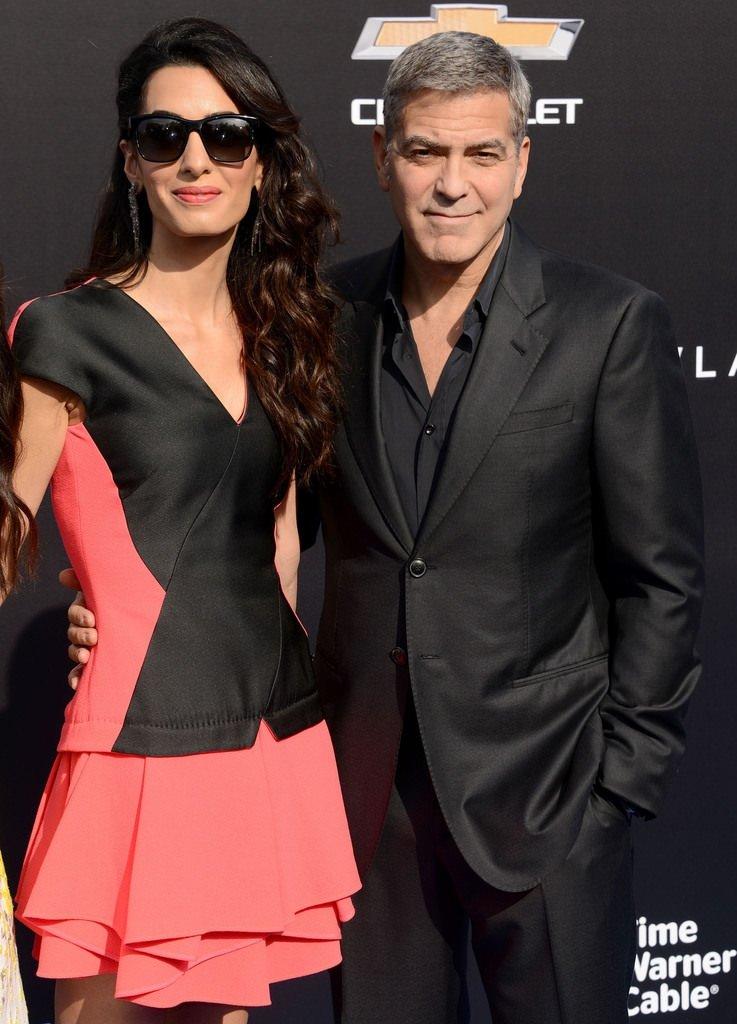 George Clooney ve eşi Amal Alamuddin