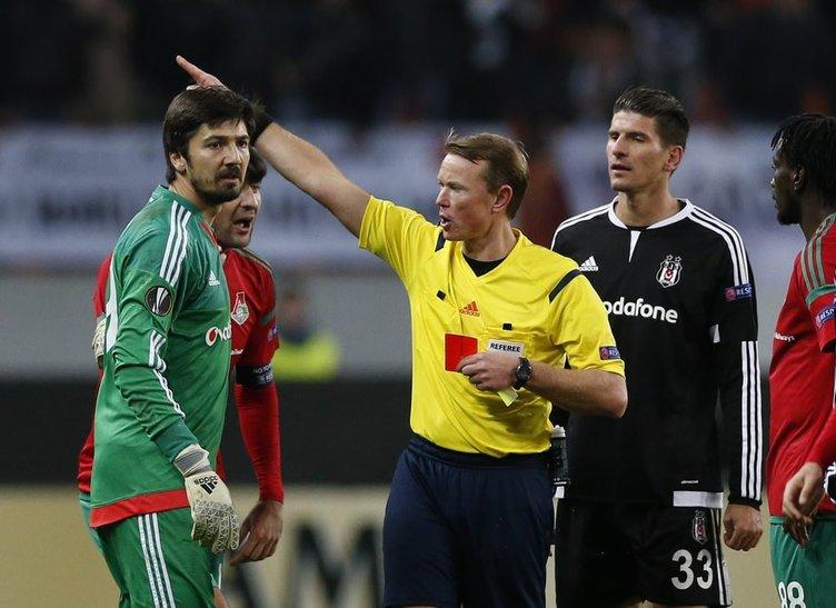 Lokomotiv Moskova Beşiktaş maçının fotoğrafları