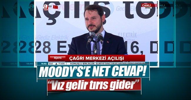 BAKAN ALBAYRAK'TAN MOODY'S' NET CEVAP!