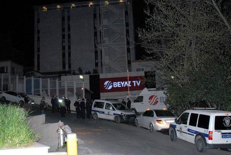 Galatasaray taraftarı Beyaz TV'yi bastı